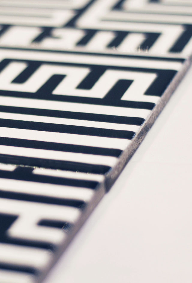 Degrés 960 : Carrelage design en lave émaillée